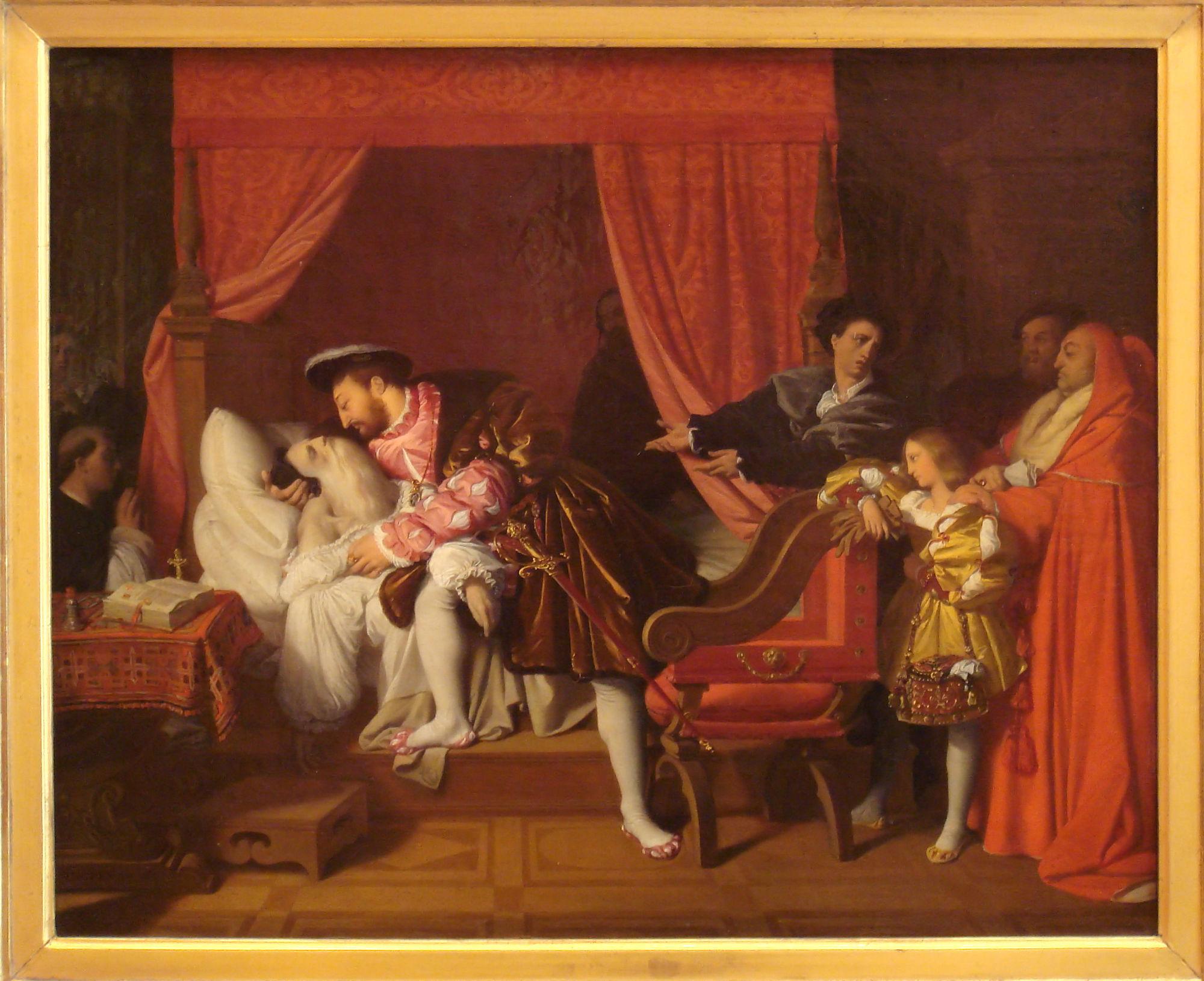 François 1er et Leonard de Vinci