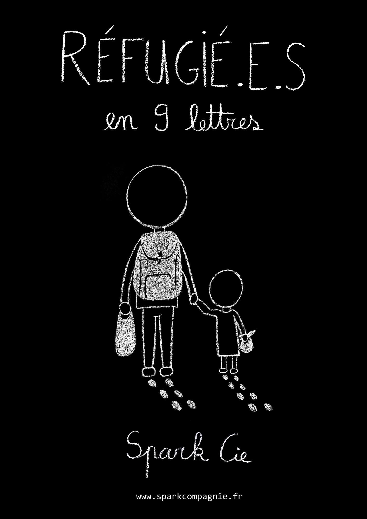 Réfugié.e.s en 9 lettres (Affiche)