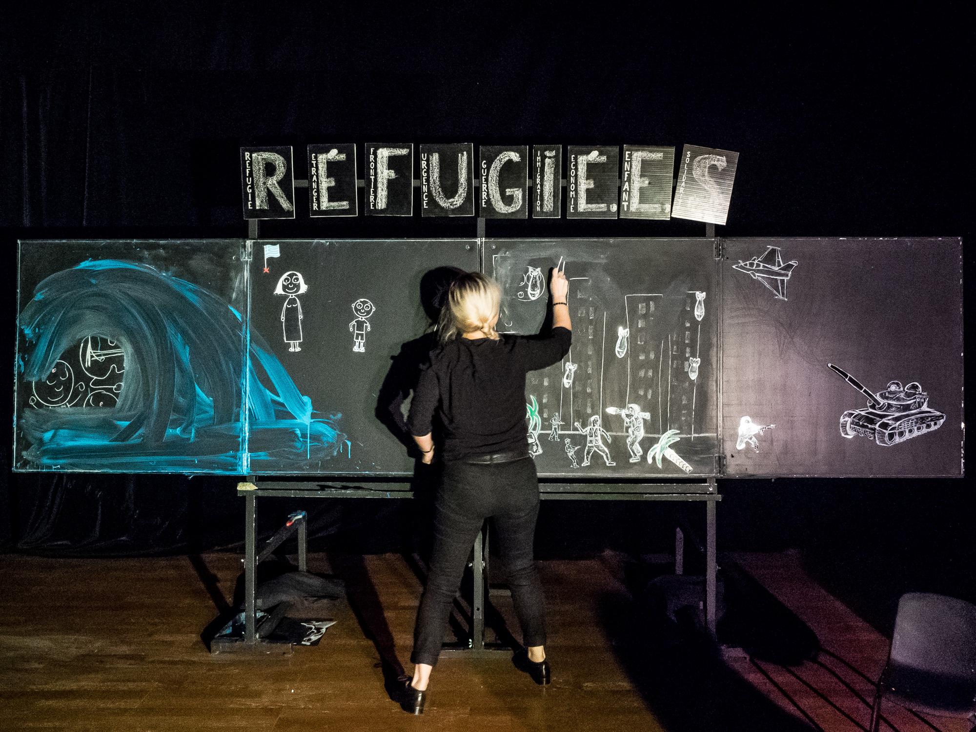 Réfugié.e.s en 9 lettres